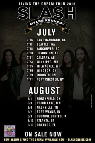 SLASH FEATURING MYLES KENNEDY AND THE CONSPIRATORS Announce Summer 2019 North American Tour