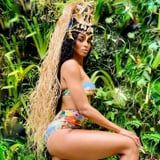 Ciara Wore a Sexy Swimsuit to Carnival, but Her Huge Headpiece Stole the Show