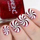 These Glittery Candy Cane Nails Look Good Enough to Eat, and They're Easy to Recreate