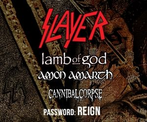 SLAYER Announces North American Tour With LAMB OF GOD, AMON AMARTH, CANNIBAL CORPSE; BLABBERMOUTH.NET Presale