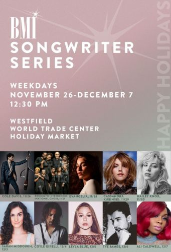 Events: BMI Songwriter Series Westfield World Trade Center: New York City