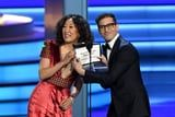 We Couldn't Stop Laughing When Sandra Oh Said La La Land Won an Emmy